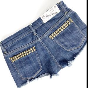 BLANK NYC Raw Hem Gromet Jean Shorts Size 25
